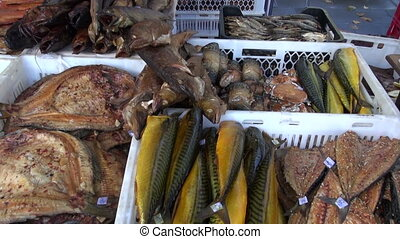 smoked fish in fair - smoked fish in agriculture fair