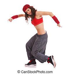 woman dancer performing
