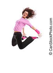 woman dancer jumping