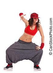 street dancer in a cool pose