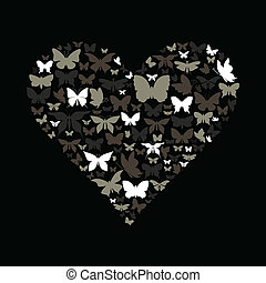 Heart the butterfly