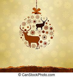 Natale, ornamenti, fatto, Fiocchi neve, EPS, 8