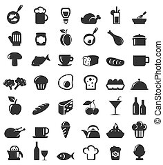Meal icons - Set of icons on a theme food. A vector...
