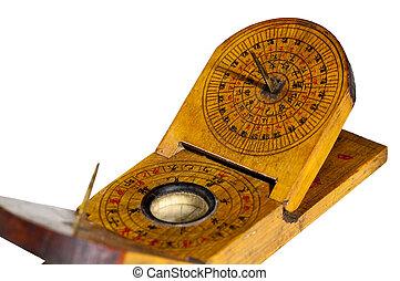 antike chinesische Sonnenuhr mit Kompass - antique chinese...