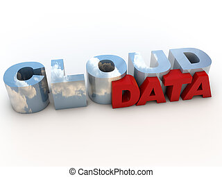 Cloud Data over white Background