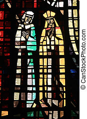 Stained glass in Notre Dame de Lourdes, Casablanca