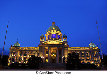 Belgrade, Serbia - Parliament building in Belgrade, Serbia