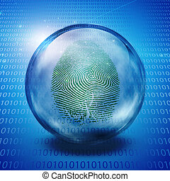 Fingerprint and binary code