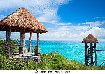 ISLA, Caribe, mar,  mujeres,  México