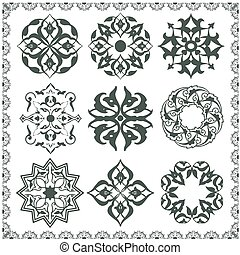 Oriental style ornament elements All components are easy...