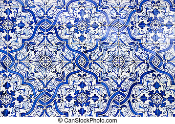 Portuguese tiles, Azulejos - Typical portuguese tiles,...