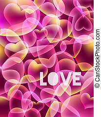 Love background - Abstract love background with hearts