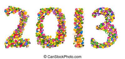 2013 made of confetti