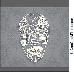 Art face made from lines.