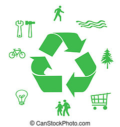 save our resources - go green symbols ways to save our...