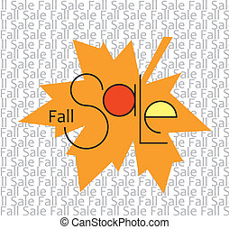 Fall Sale - Sticker Fall Sale as a design element