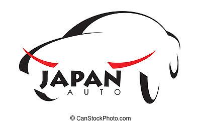 japan - stylized image of Japanese car