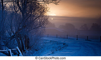 winter landscape - Various winter landscapes in the...