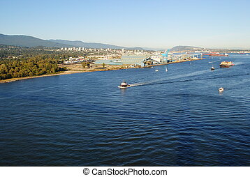 Burrard Inlet,Vancouver,BC