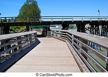 Footbridge under Railroad Bridge, New Westminster, BC