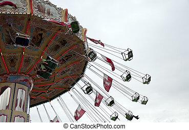 Carousel at an amusement park