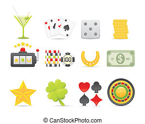 Gambling Icons Set For Your Application Or Web Site