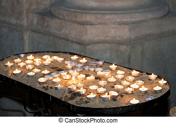candles in church