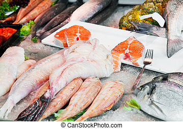 Street show-window of fish shop in Holland