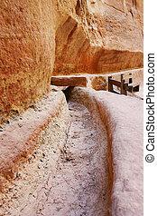 petra, Jordan-, água, maneira, Erosão, pedra