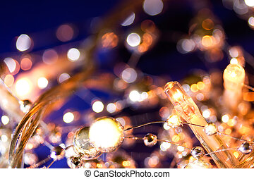 Wintery holiday lights