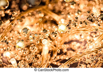 Defocused background lights