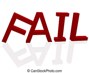 3d Render of the Word Fail
