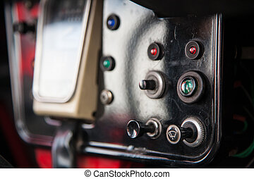 Dashboard of Citroen - Close up photo of the dashboard of a...
