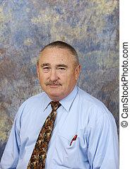 Businessman portrait - Portrait of a friendly realtor