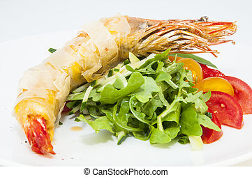 shrimp - jumbo shrimp with herbs and several types of...
