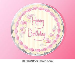 birthday cake design - an illustration of the top of a...