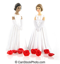 brides - two brides at their wedding day