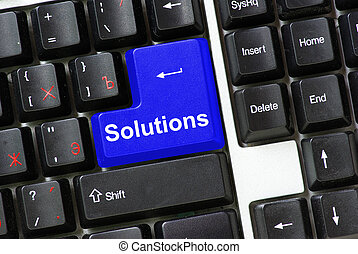 keyboard Solutions - Computer keyboard  blue key Solutions
