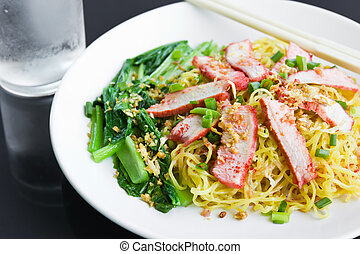 Noodles Pork - Noodles Pork of Chinese food