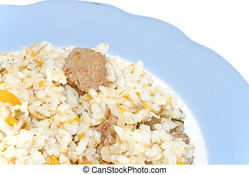 dish with a pilau