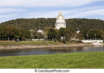 Charleston, West Virginia - State Capitol Building seen...