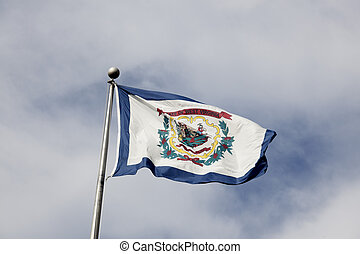 西, 旗, ヴァージニア