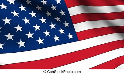 USA Flag Loop - Flag of the United States of America...