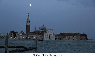 Nightfall in Venice - View over Venice, Italy, Europe