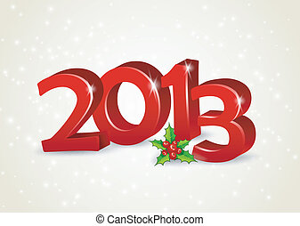 Happy new year 2013 - Vector illustration of Happy new year...