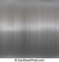 Shiny Brushed Aluminum - Brushed metal background texture -...