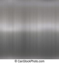 Shiny Brushed Aluminum - Brushed metal background texture -...