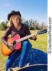 Singing Cowgirl Vertical
