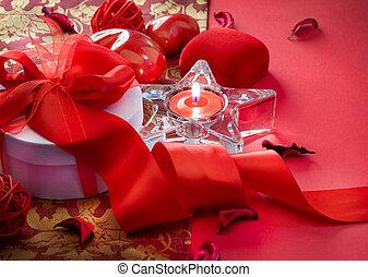 卡片, 情人是, 天, 禮物, 設計