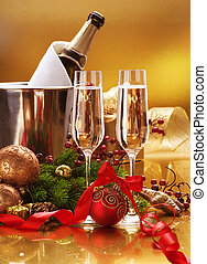 New Year Celebration.Champagne